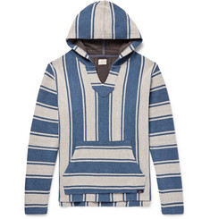 Faherty Baja Striped Cotton Hoodie