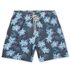 Faherty Mid-Length Printed Stretch-Shell Swim Shorts