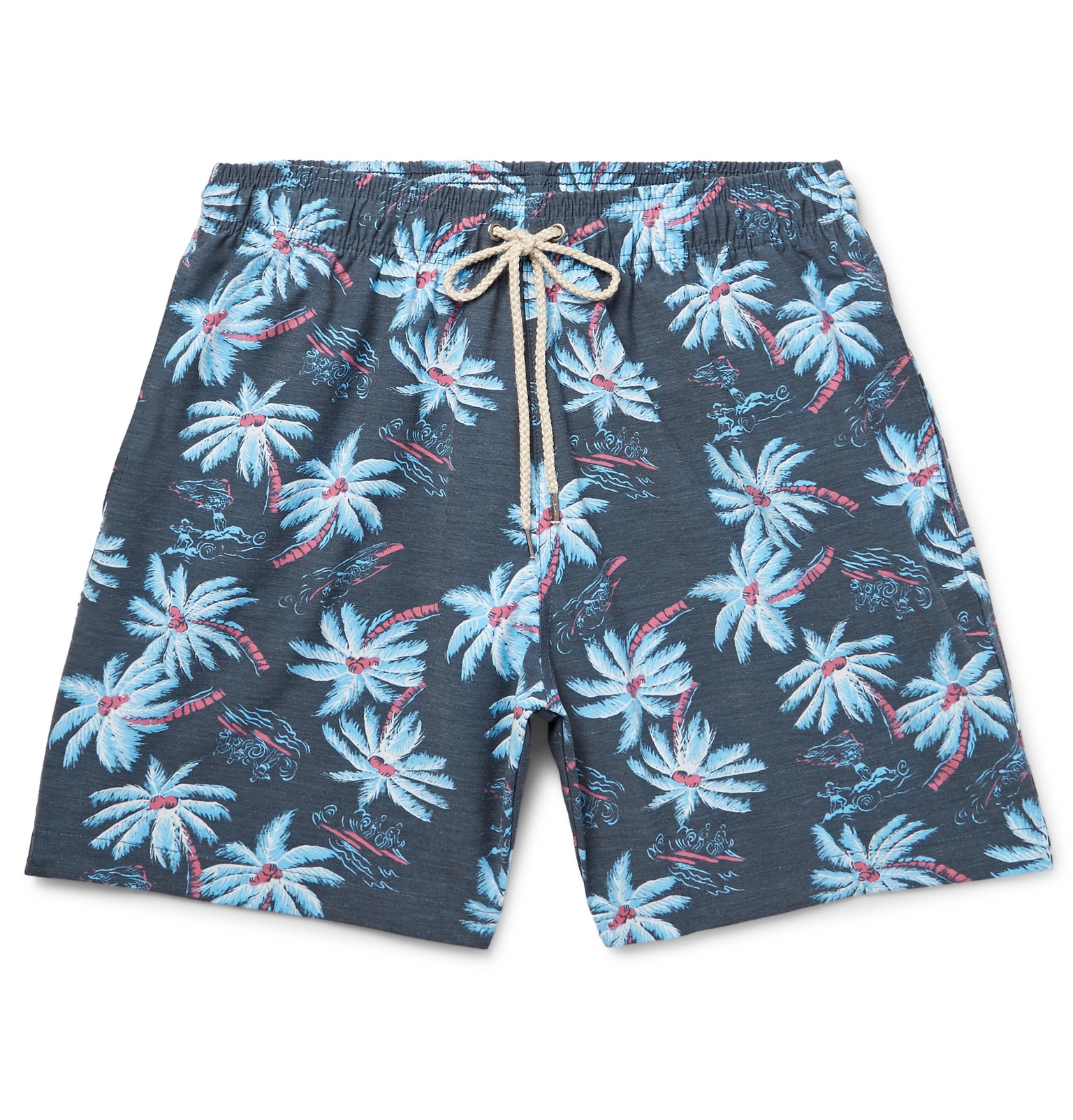 6ea65d3482598 Faherty - Beacon Mid-Length Printed Swim Shorts