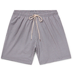 Faherty Beacon Mid-Length Printed Swim Shorts