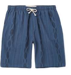 Mollusk Ikat-Print Cotton Drawstring Shorts