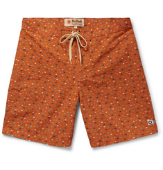 Mollusk Long-Length Printed Cotton-Blend Swim Shorts