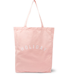 Holiday Boileau Printed Cotton-Twill Tote Bag