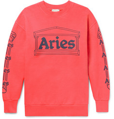 Aries Temple Printed Cotton-Jersey Sweatshirt
