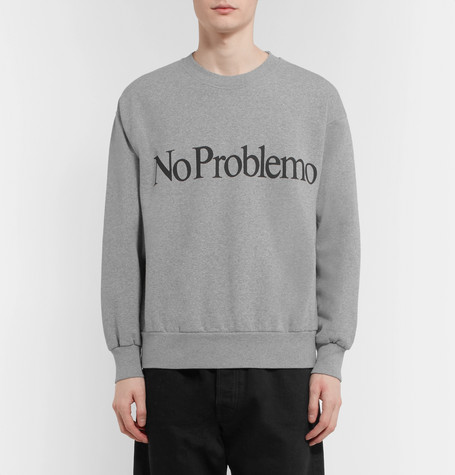 Perfect Cheap Online Outlet With Paypal Order No Problemo Printed Fleece-back Cotton-jersey Sweatshirt Aries jpCWla