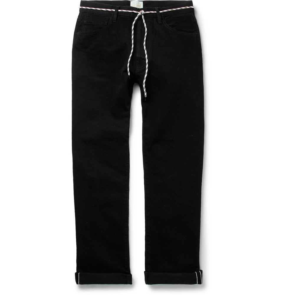 Lilly Selvedge Denim Jeans - Black