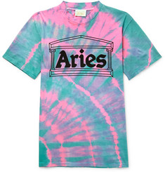 Aries Temple Tie-Dyed Cotton-Jersey T-Shirt