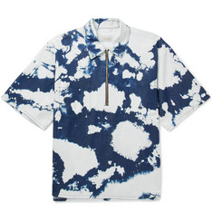 Aries D Tie-Dyed Cotton Half-Zip Shirt