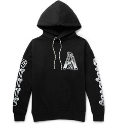 Aries Samson Printed Fleece-Back Cotton-Jersey Hoodie