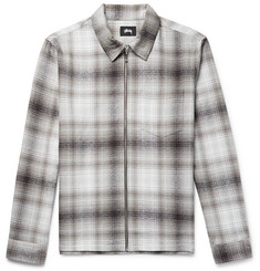 Stüssy Checked Cotton-Flannel Zip-Up Overshirt