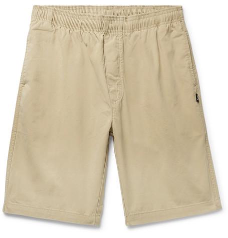Brushed Cotton-twill Shorts Stüssy kIWNBznz