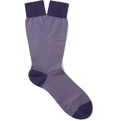 Pantherella Seymour Striped Cotton-Blend Socks