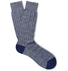 Pantherella Two-Tone Knitted Socks