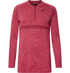 Nike Golf - Mélange Stretch-Knit Half-Zip Top