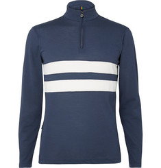Iffley Road Worthing Striped Drirelease Half-Zip Running Top