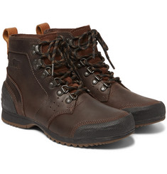 Sorel Ankeny Waterproof Leather and Rubber Boots