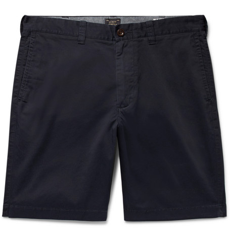 J.Crew Stanton Slim-fit Stretch-cotton Twill Shorts - Navy