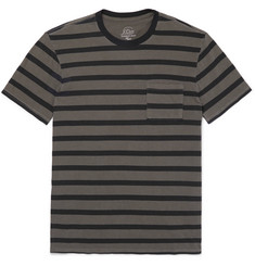 J.Crew Garment-Dyed Striped Slub Cotton-Jersey T-Shirt