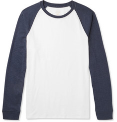 J.Crew Two-Tone Slub Cotton-Jersey T-Shirt