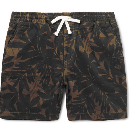 Printed Stretch Cotton Twill Shorts by J.Crew