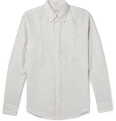 J.Crew Slim-Fit Button-Down Collar Puppytooth Linen Shirt