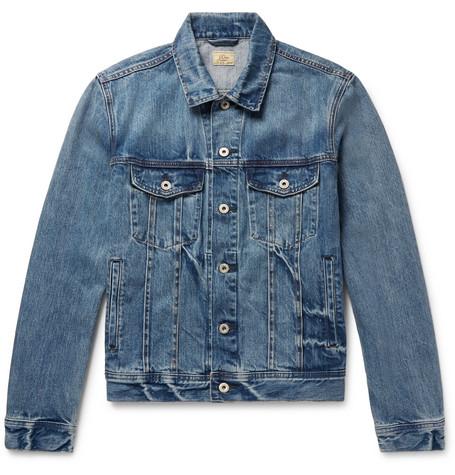 Indigo Dyed Denim Jacket by J.Crew