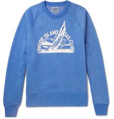 J.Crew Printed Mélange Fleece-Back Cotton-Blend Jersey Sweatshirt