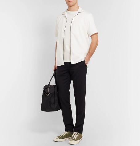 Miyaki Camp Collar Piped Cotton Jacquard Shirt by Nn07
