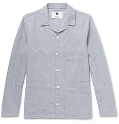 NN07 Jones Pinstriped Woven Shirt Jacket