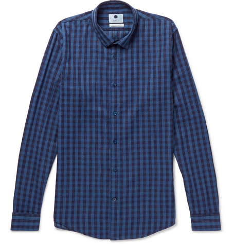Morgan Checked Cotton Shirt - Blue