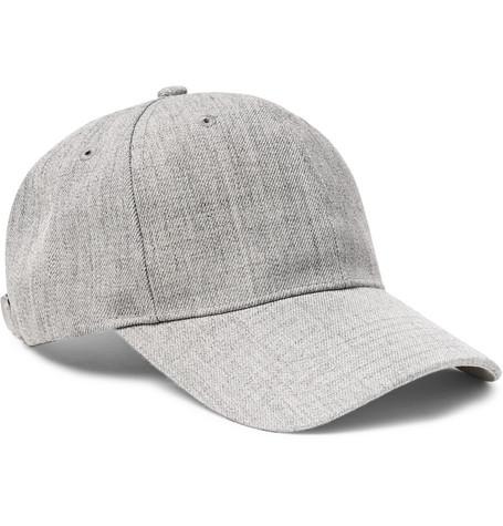 Mélange Twill Baseball Cap - Gray