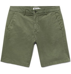 NN07 Crown Slim-Fit Garment-Dyed Stretch-Cotton Twill Shorts