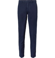 NN07 - Noho Slim-Fit Cotton and Linen-Blend Trousers