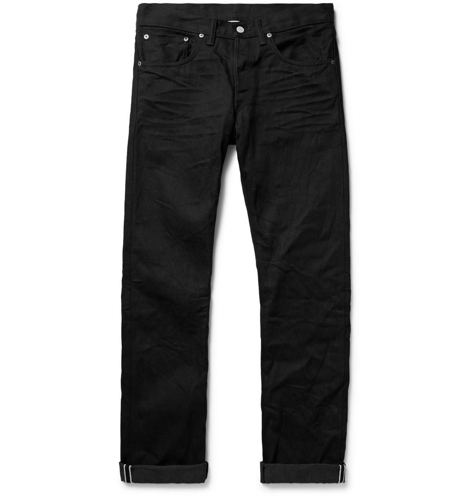 Slim-fit Selvedge Denim Jeans - Black