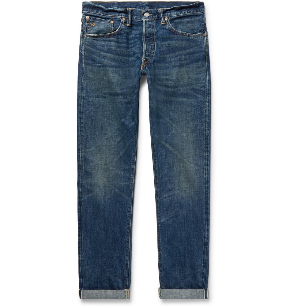 Slim-fit Selvedge Denim Jeans - Mid denim