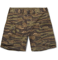 RRL Camouflage-Print Cotton-Ripstop Cargo Shorts