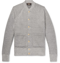 RRL Mélange Loopback Cotton and Wool-Blend Cardigan
