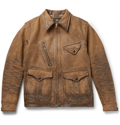 RRL Distressed Leather Jacket