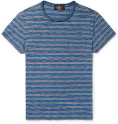 RRL Slim-Fit Indigo-Dyed Striped Cotton-Jersey T-Shirt