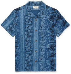 RRL Camp-Collar Floral-Print Cotton Shirt