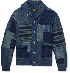 RRL - Shawl-Collar Patchwork Cotton Cardigan