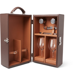 Lorenzi Milano - Leather Travelling Wine Box