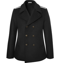 Tomas Maier - Double-Breasted Grosgrain-Trimmed Wool-Blend Coat