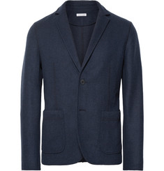 Tomas Maier Navy Slim-Fit Unstructured Felt Blazer