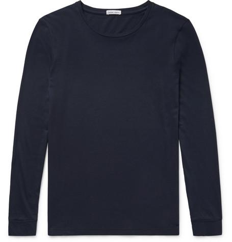 Cotton-jersey T-shirt - Midnight blue