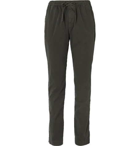 Stretch-cotton Twill Drawstring Trousers - Gray