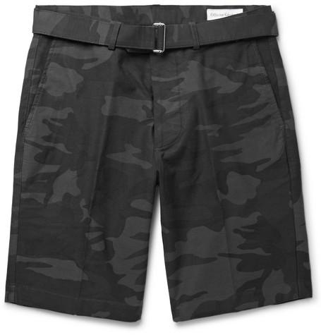 Julian Slim-fit Printed Cotton Shorts Officine Generale cwWWgaT8Zr