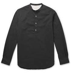 Officine Generale - Auguste Slim-Fit Grandad-Collar Seersucker Shirt