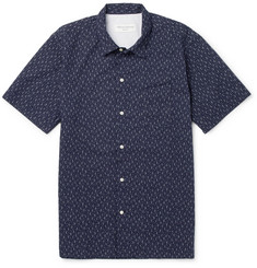 Officine Generale Slim-Fit Printed Cotton Shirt