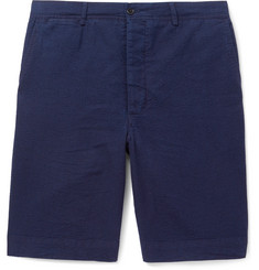 Officine Generale Slim-Fit Cotton-Seersucker Shorts